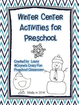 Winter Center Activities for Preschool