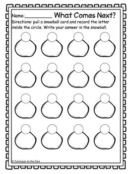 Winter Center ~ Snowball Math ~ CCSS Aligned