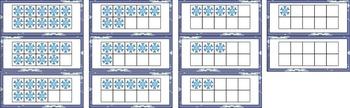 Winter Center ~ Snowflake 10 Frames ~ CCSS Aligned