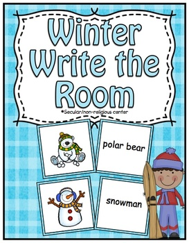 Free Winter Center ~ Write The Room