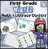 Winter Centers 1st Grade Math Centers and Literacy Centers for Winter