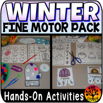 Winter Centers Activities Fine Motor Centers OT Literacy Math Therapy