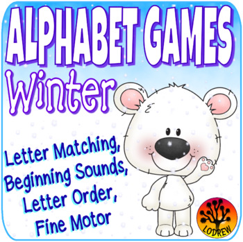 Winter Centers Alphabet Games Literacy Centers Winter Activities Letters Snow