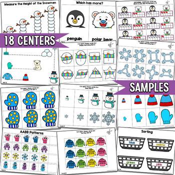 Winter Centers BUNDLE | Math & Literacy | Easy Prep, Simple Centers