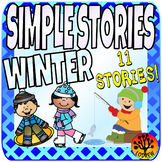 Winter Centers Activities Beginner Reading Passages Simple Stories Literacy