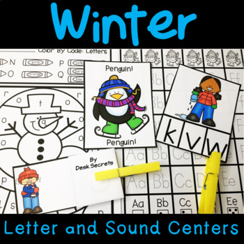 Winter Centers Letters and Sounds