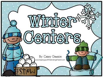 Winter Centers (Literacy and Math Fun)