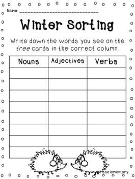 Winter Centers - Winter Themed Literacy Activities