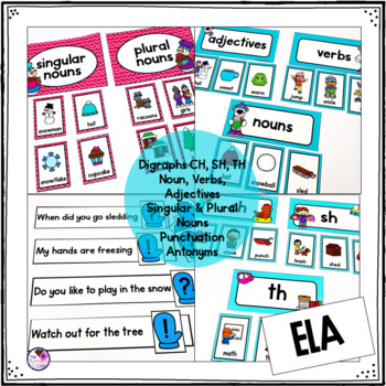 Winter Centers Math and Literacy