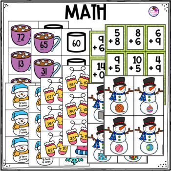 Math and Literacy Centers for Winter First Grade