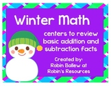 Review Basic Addition and Subtraction Number Sense with these winter centers