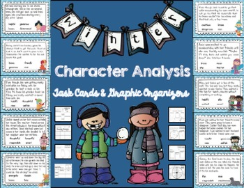 Character Analysis Stories and Graphic Organizers: Winter Edition