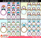 Winter Character Spinners Winter Clip Art Bundle