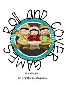 Roll and Cover Game- Winter Children