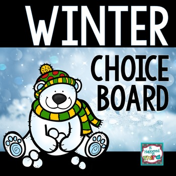 Winter Choice Board with Multiple Intelligence Activities