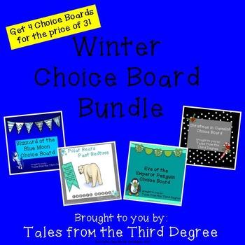Magic Tree House Winter Choice Board Bundle