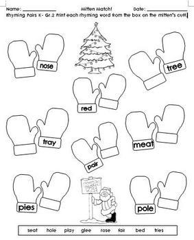 Winter Christmas Activities for PreK to Gr.3