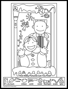 winterchristmas activity coloring pages