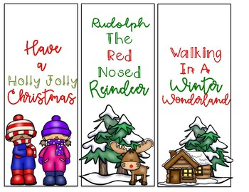 Winter/Christmas Bookmarks