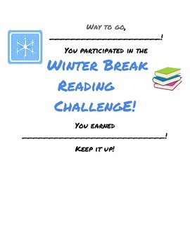 Winter/Christmas Break Reading Challenge