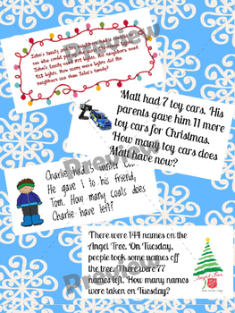Winter/Christmas CGI Word Problems