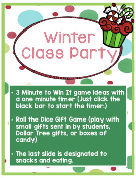 Winter/Christmas Class Party