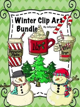 Winter/Christmas ClipArt Bundle By JellyJams ~No Prep! Fre