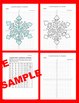 Winter/Christmas Coordinate Graphing Picture:Snowflakes