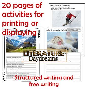 Descriptive Writing tasks for Winter