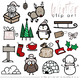 Winter & Christmas Doodles - Clip Art [IN COLOR!]