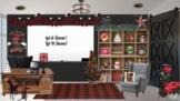 Winter Christmas Farmhouse Office Bitmoji Virtual Classroo