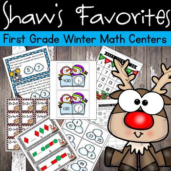 Winter/Christmas First Grade Math Centers