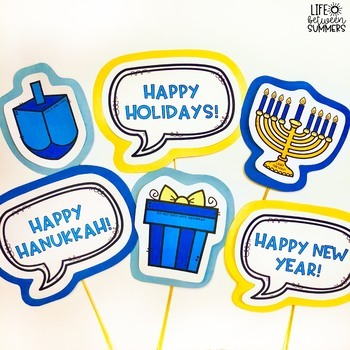 Winter, Christmas, & Hanukkah Photo Booth Prop Bundle