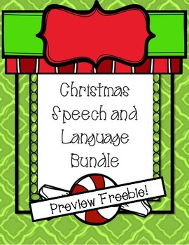 Winter/Christmas Holiday Bundle Preview Freebie