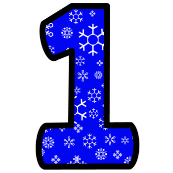 Winter Christmas Holiday Snow Bulletin Board Letters and Numbers Clip Art