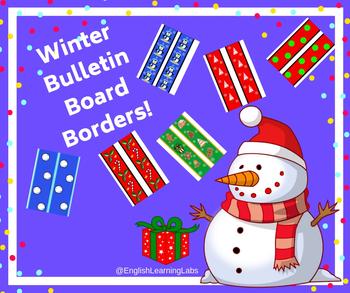 Winter / Christmas Holidays Bulletin Board Borders