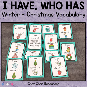 I Have Who Has Game - Winter and Christmas