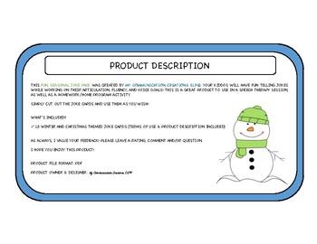 Winter & Christmas Jokes {Pack of 18}
