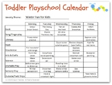 Winter/Christmas Lesson Plan for Toddlers