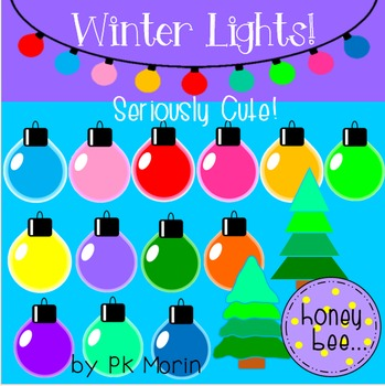 Winter / Christmas Lights Clip Art