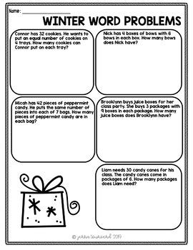 Winter Christmas Math Pack