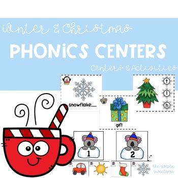 winter christmas phonics centers phonics games phonics. Black Bedroom Furniture Sets. Home Design Ideas