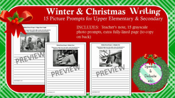 Winter & Christmas Photo Writing Prompts