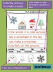 Winter Christmas Sentences and Words - Peppy Pencil Writing Helpers, Printables