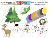 Winter / Christmas Set: Clip Art Graphics for Teachers