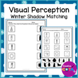 Winter Christmas Shadow Matching Worksheets and Activities