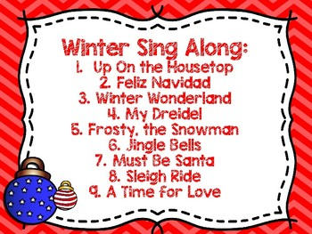 Winter/Christmas Sing Along