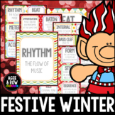 NEW! Winter Bulletin Board & Christmas Theme Flashcards, Wall Cards, Music