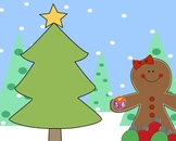 Winter / Christmas Theme Mimio .ink Math Lesson Gingerbread Man Counting to 6