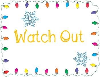 Winter/Christmas Themed Behavior Chart